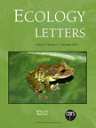 Cover image for Ecology Letters featuring Pristimantis museosus.
